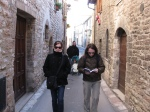 Shopping in Assisi with Melissa, Eric, Alex and Paul
