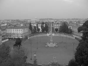 Piazza Del Popolo at Dawn