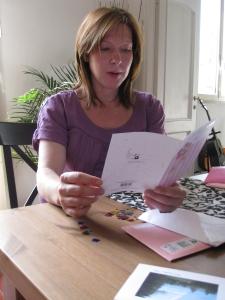 Reading birthday cards