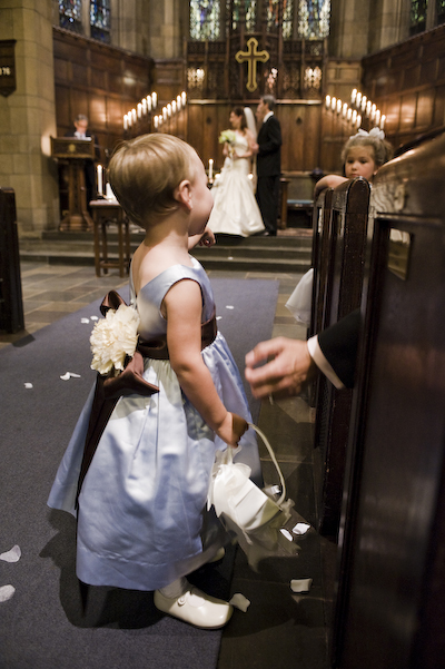 Alex, the littlest flower girl